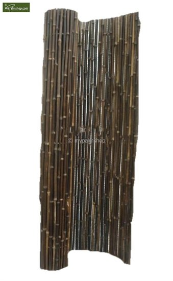 Bamboe rolscherm zwart 200cm x 180cm [pallet]